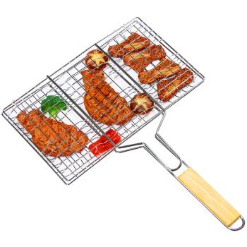 悠乐朋(Ulecamp)多功能烧烤网烤肉夹 烤鱼烤面包网 烧烤配件
