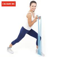 杜威克 瑜伽拉力带男女健身运动拉伸弹力带力量阻力带伸展带   蓝色18磅