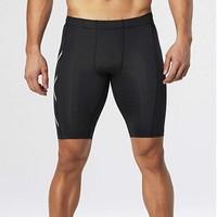 中亚Prime会员、限L码:2XU 男士 Hyoptik 压缩短裤