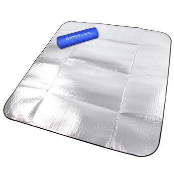 尚龙双面镀铝膜防潮垫野餐垫 易清洁遮阳地席地垫 休闲露营帐篷内垫底垫 2X2米