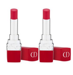Dior 迪奥 2018新红管限量唇膏 3.2g 2支装 #763