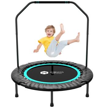 米客 蹦蹦床 儿童可折叠弹跳床益智健身床训练器材 MK9501-02 蓝色带扶手