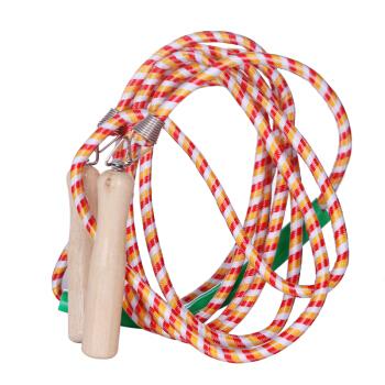 新动力跳绳健身成人木柄耐磨编织跳绳XD-016绳长7米适合7人以内 颜色随机 运动器材体育用品健身器材家用