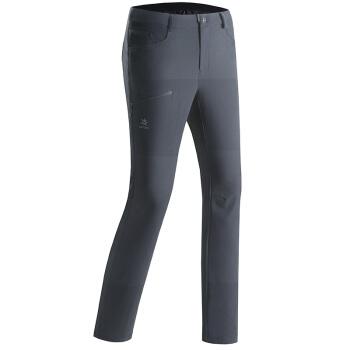 凯乐石(KAILAS)户外软壳裤男款飞织轻量防风保暖徒步软壳长裤 墨黑 L