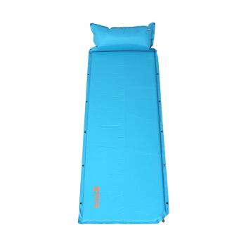 喜马拉雅帐篷防潮垫 户外加厚防水地垫 自动充气垫单人睡垫气垫床 彩虹2升级版蓝色 HA9604