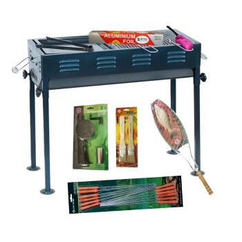 零度探索LIVTOR 便携烧烤炉子户外烧烤用品工具套装户外家用烧烤架日式(8件套)