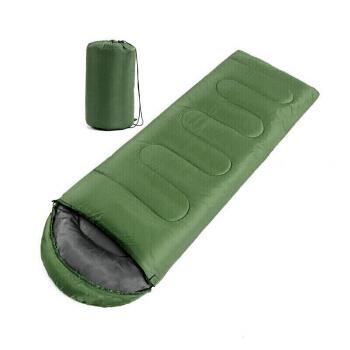 捷昇(JIESHENG) 睡袋 成人戶外旅行加厚室內午休保暖秋冬季加棉睡袋 可伸手信封式睡袋  1.6KG果綠色