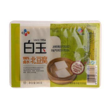 白玉 盒装100%卤水北豆腐 385g 豆制品(2件起售)