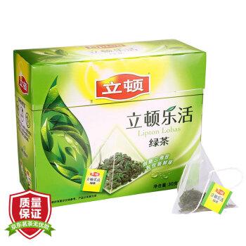 立顿Lipton 独立三角袋泡乐活绿茶包 1.5g*20 茶叶