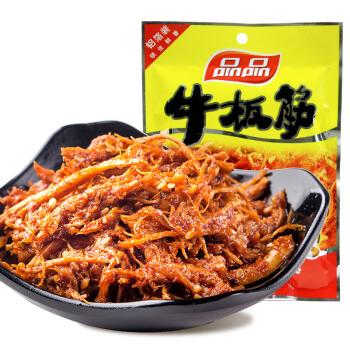 品品 休闲食品小吃 香辣味 牛板筋 85g