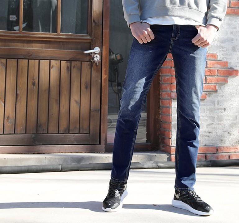 京造 100000891359 男士基础直筒牛仔裤