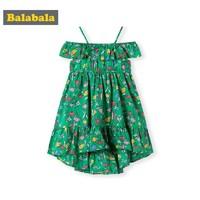 Balabala 巴拉巴拉 儿童碎花吊带裙