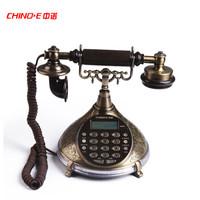 中諾(CHINO-E)電話機 座機 仿古電話  仿古復古風情 語音報號 音樂保留 S007青銅色