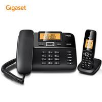 Gigaset原西門子品牌電話機DL310數字無繩電話家用子母機中文來電顯示一拖一辦公固定無線電話座機(黑) *5件