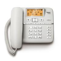 Gigaset原西門子DA760A錄音電話機/辦公家用內置16G卡安全加密/智能答錄/呼叫中心客服酒店固定電話機座機白