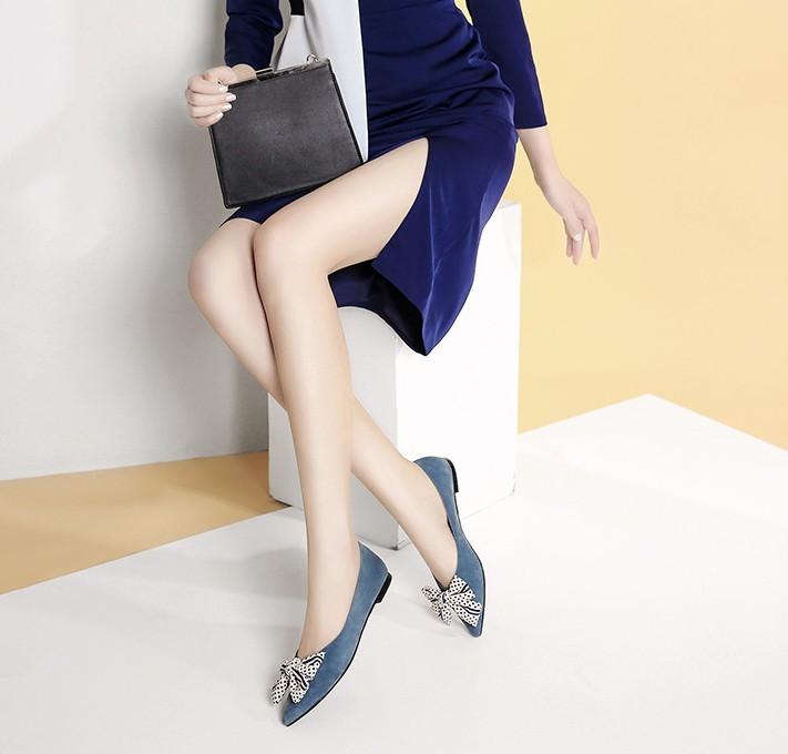 kumikiwa 卡米 女士平底尖头鞋