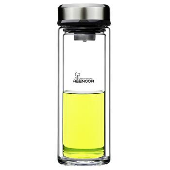 希诺 XN-9309 双层玻璃杯隔热加厚男士水杯 375ml
