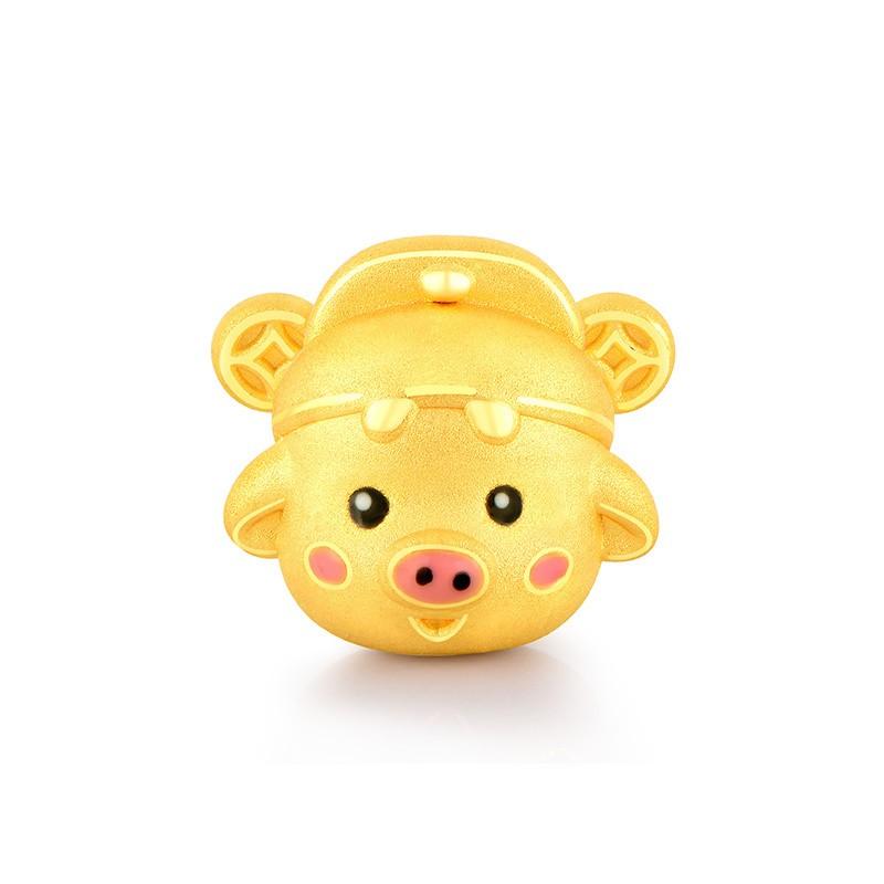 赛菲尔 3D硬金 五福猪系列 本命金猪
