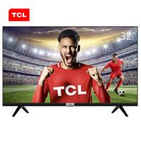 TCL 32F6B 32英寸 高清?#35910;?#24179;板 窄边液晶电视机(黑色)