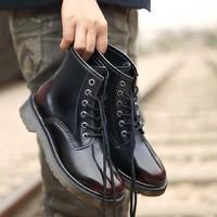 七面 女士牛皮六孔马丁靴