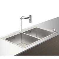 Hansgrohe 汉斯格雅 梦迪诗Select200 厨房水槽套餐 双槽