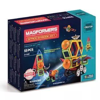 MAGFORMERS 麦格弗 创造者系列 套组磁力片 703014 太空故事套组55片