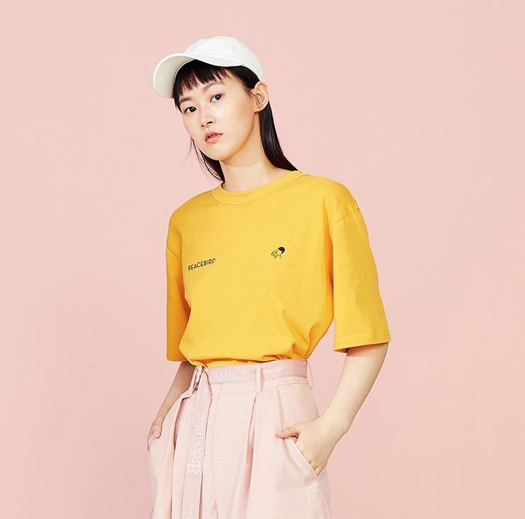 PEACEBIRD 太平鸟 喜茶联名系列 A6DA92A96 女士短袖T恤