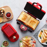 日本Bruno輕食機早餐機家用吐司壓烤機三明治機華夫餅烤面包機