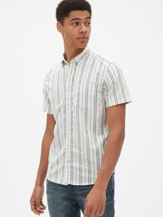 Gap 441140 男士牛津布短袖衬衫