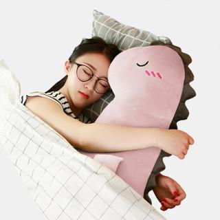 FOOJO 毛绒卡通公仔抱枕 懒人睡觉抱枕长条枕 恐龙靠垫午睡枕 圣诞情人节女友生日礼物