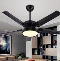 飛穩 北歐風扇吊燈 黑色鐵5葉 42寸三色變光 遙控