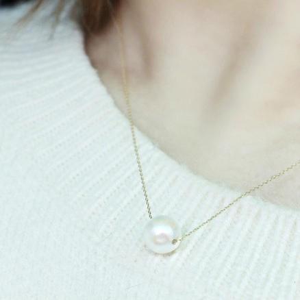 ESSENZA 紫罗兰色珍珠项链 7.5mm