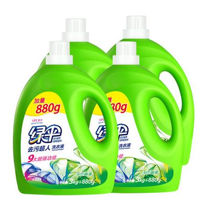EVER GREEN 绿伞 去污洗衣液 玉兰幽香 3.88kg*4瓶