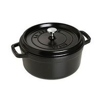中亚Prime会员:STAUB 圆形铸铁炖锅 24cm 黑色