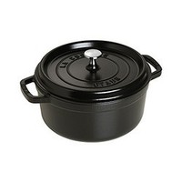 STAUB 圆形铸铁炖锅 24cm 黑色