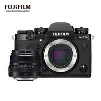 富士(FUJIFILM)X-T3/XT3 微單相機 套機 黑色(35mm F2定焦鏡頭 ) 2610萬像素 翻折觸摸屏 4K視頻