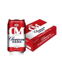 限上海、江苏:Budweiser 百威  英博 雁荡山啤酒 醇麦 330ml*24罐  *2件