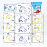23日10点:ABC 绵柔亲肤卫生巾 日夜组合套装 11包 82片 *2件 +凑单品
