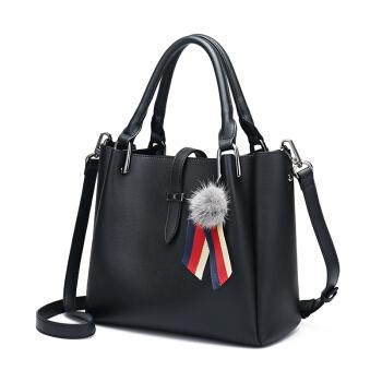 Mexican 稻草人 女士 韩版时尚英伦风 单肩包 水桶包 MNK70702L-08 黑色
