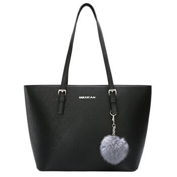 Mexican 稻草人 女士 欧美时尚经典拼接 单肩包 托特包 MYH70452L-01 黑色
