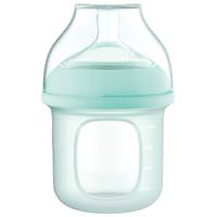gb好孩子 硅膠奶瓶 新生嬰兒寬口徑奶瓶 仿母乳實感S號慢流量奶嘴 120ml 嫩綠 *3件
