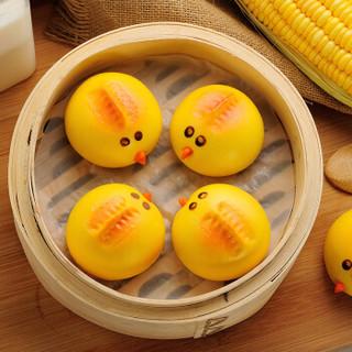 千味央厨 鸡宝宝卡通包 360g(12个装 奶黄馅 儿童早餐 卡通包子)