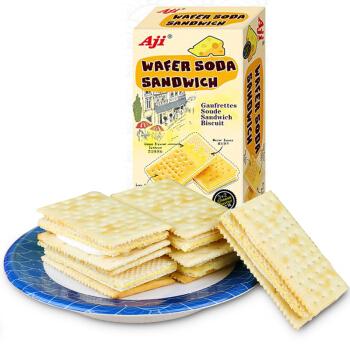 Aji 饼干蛋糕 零食 早餐饼干 威化苏打夹心饼干 芝士味 200g/盒
