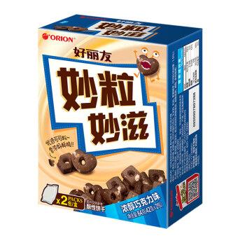 好丽友(orion)饼干蛋糕 妙粒妙滋 浓郁巧克力味 休闲零食 酥性饼干84g/盒