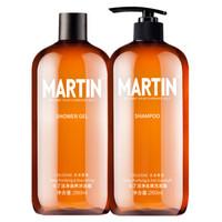 Martin 马丁 男士古龙香氛套装(洗发水260ml+沐浴露260ml) *2件