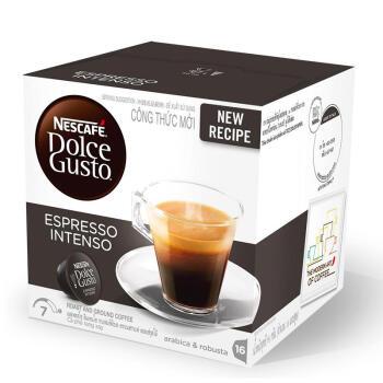 越南进口 意式浓缩 雀巢多趣酷思(Dolce Gusto) 黑咖啡胶囊 研磨咖啡粉 16颗装