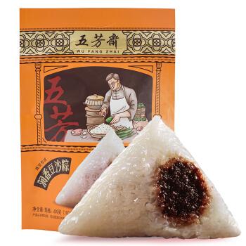 五芳斋 粽子 中华老字号 端午节粽子嘉兴特产 润香豆沙粽6只装600g