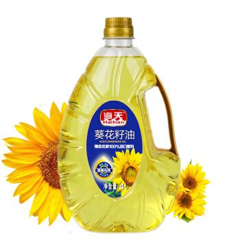 海天 食用油 压榨一级 非转基因 葵花籽油4L