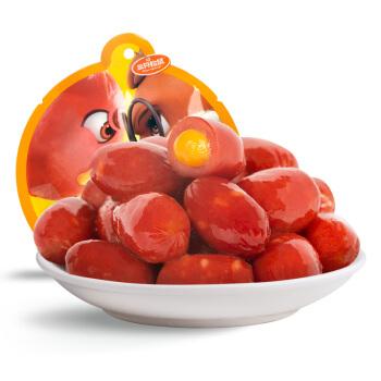 新品三只松鼠_爆芝肉弹熏煮香肠卤味零食即食烤肠芝士味80g