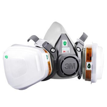 3M 防护面具升级版6200防毒面具面罩防化工喷漆防尘中号